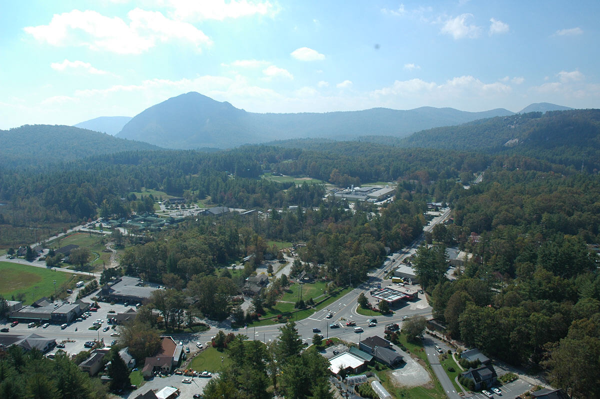 Cashiers NC aerial photograph