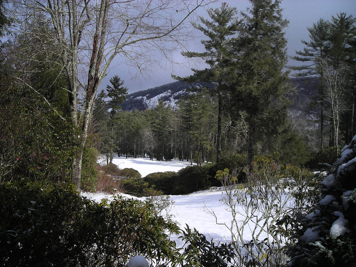 Wade Hampton Golf Club in Winter