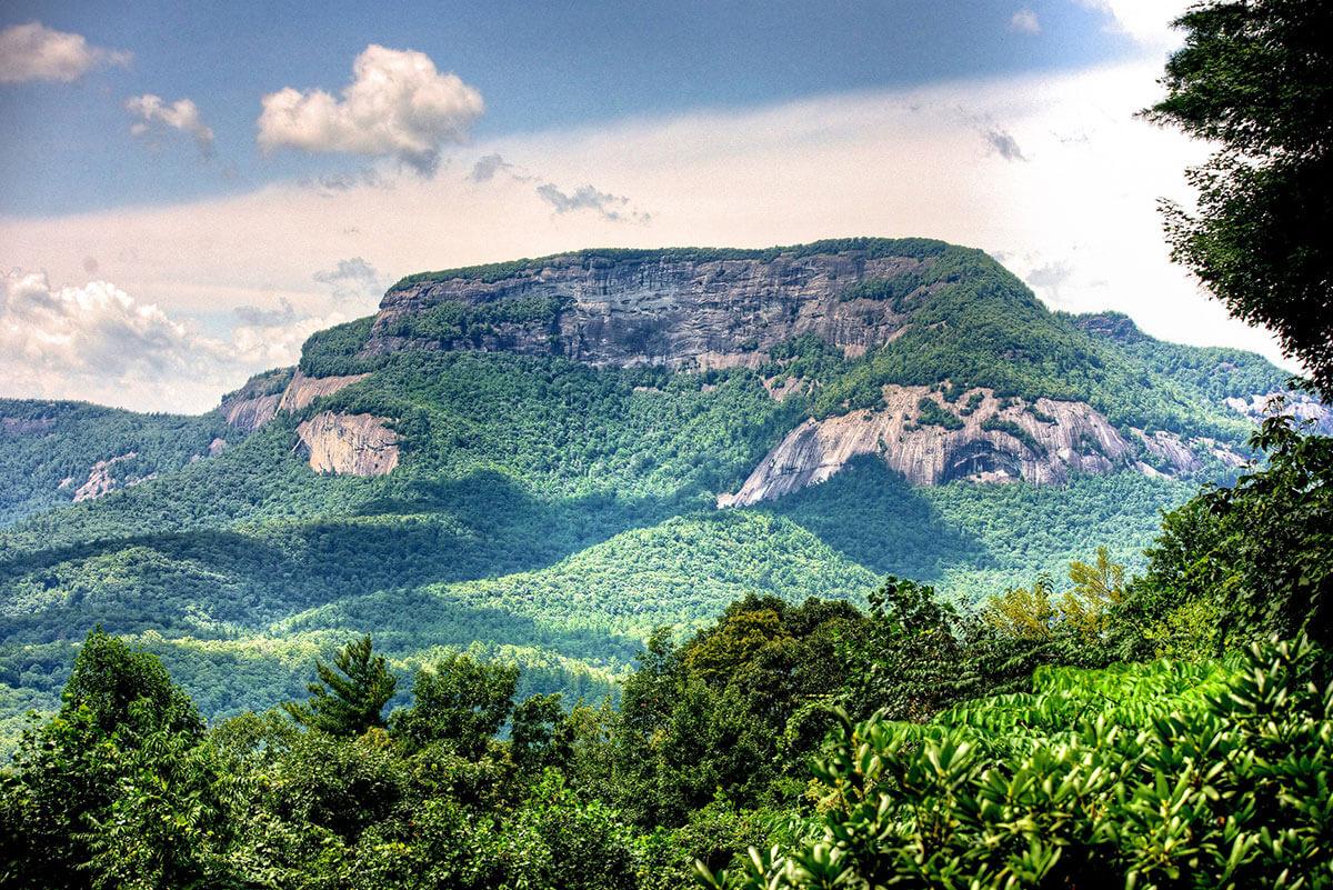 Whiteside Mountain in western North Carolina